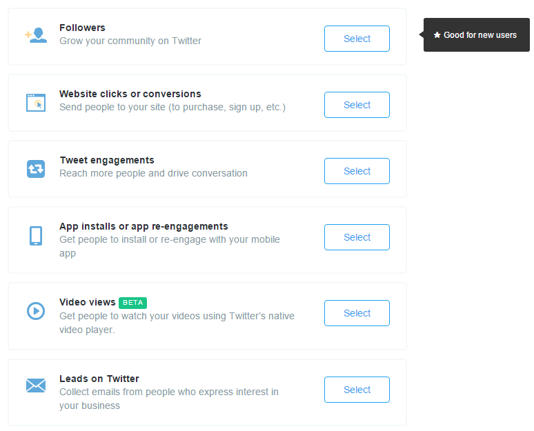 Twitter Ads Objectives
