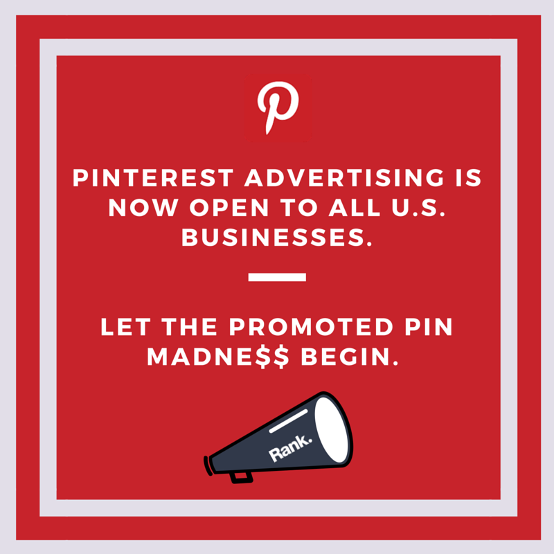 Pinterest Advertising Rolled Out