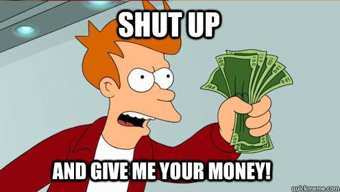 Fry Spending Money - Futurama